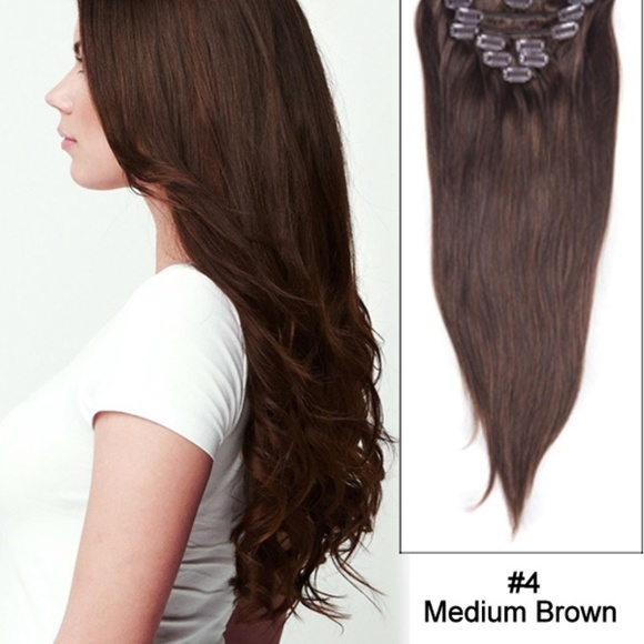 Accessories 18 Wave Curly Hair Extensions 4 Medium Brown Poshmark